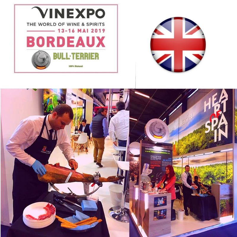 Vinexpo Bordeaux Liquors and Gins Bull Terrier.